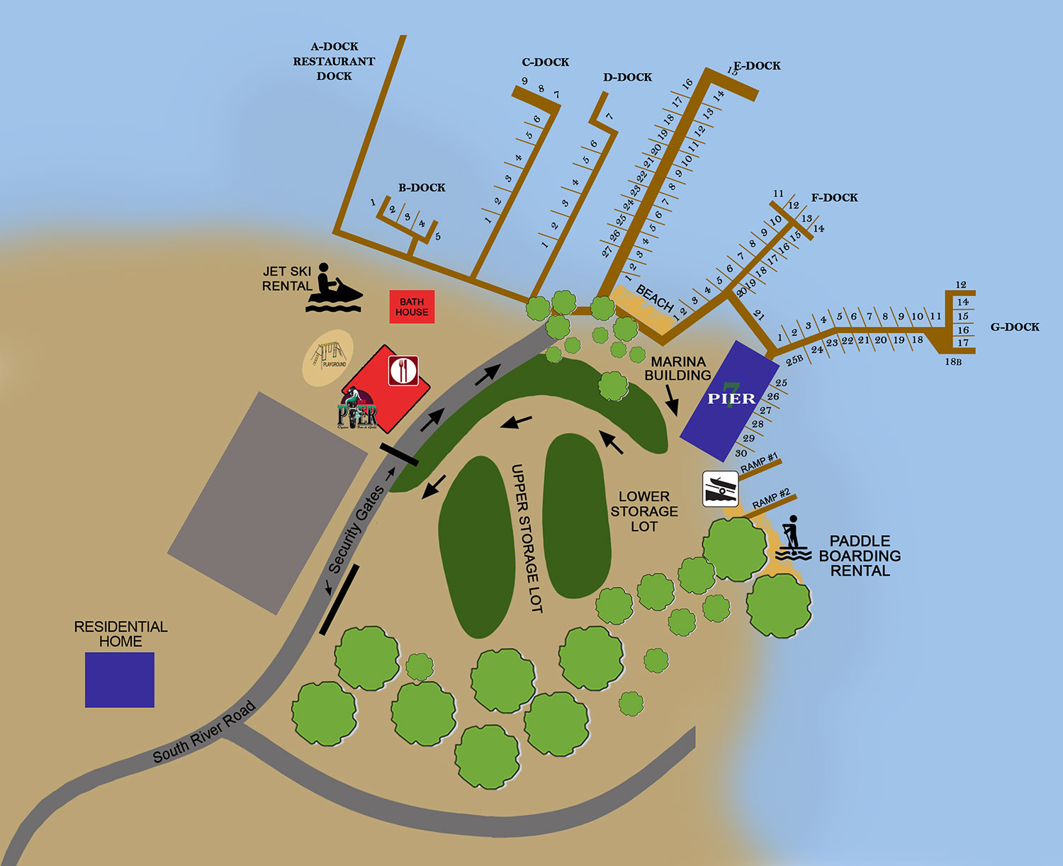 Pier 7 Resort Marina Map